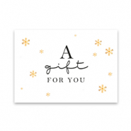 "Sieraden kaartjes ""a gift for you"" White"