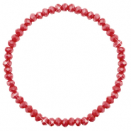 Top facet armbandjes 4x3mm Chillipeper red-pearl shine coating