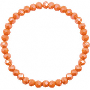 Top facet armbandjes 6x4mm Rust orange-pearl shine coating