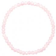 Top facet armbandjes 4x3mm Peach pink opal-pearl shine coating