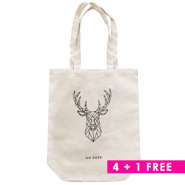 Combi deal 2 | Canvas tas 4 + 1 gratis