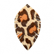 Imi leer hangers leaf medium leopard Beige-red brown