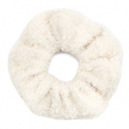 Scrunchies haarelastiek teddy White