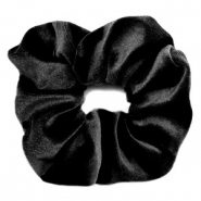 Scrunchies haarelastiek velvet Black