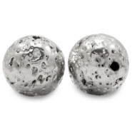 Hematite kralen lava look Antique silver