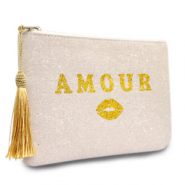 Make-up tas Amour Natural white-gold