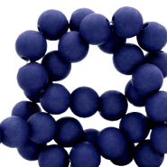 6 mm acryl kralen Dark blue