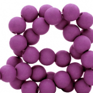 6 mm acryl kralen Deep lavender purple
