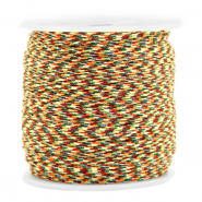 Macramé draad 1.5mm Mixed red-gold