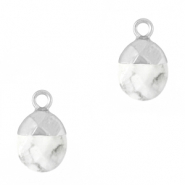 Natuursteen hangers Marble white-silver