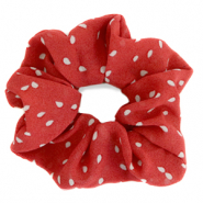 Scrunchies haarelastiek dots Red