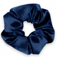 Scrunchies haarelastiek silky Deep blue