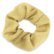 Scrunchies haarelastiek glitter Gold