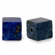 4 mm natuursteen kralen square Dark blue