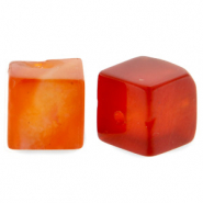 8 mm natuursteen kralen square Fire red