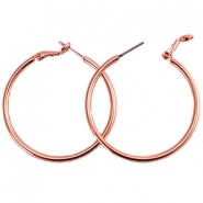 DQ creolen 30 mm Rose gold plated