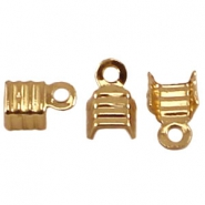 DQ veterklemmen 4 mm Gold plated