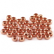 DQ knijpkralen 3 mm Rose gold plated