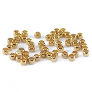 DQ knijpkralen 2 mm Gold plated