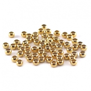 DQ knijpkralen 3 mm Gold plated