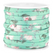 Trendy plat koord 5mm Mint groen