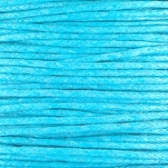 Waxkoord 1.0 mm Capri blue