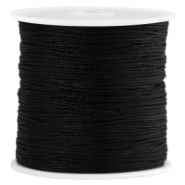 Macramé satijndraad 0.8mm Black