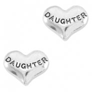 Floating Charms hartje daughter Antiek zilver
