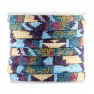 Aztec plat 5mm Multicolor purple yellow