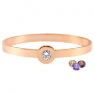 Changeable diamond armbanden stainless steel Rose gold