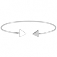 Armband metaal triangle Zilver
