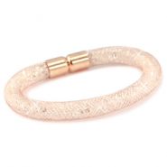 Armbanden met kristal facet Rose gold - crystal
