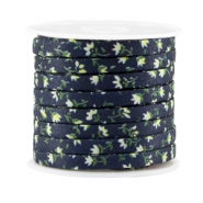 Trendy plat koord 5mm Dark blue