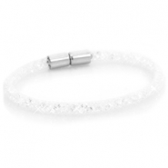 Armbanden single met kristal facet White - crystal