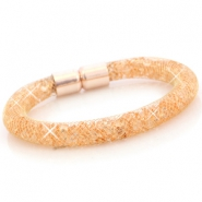 Armbanden met kristal facet Goud - peach orange crystal