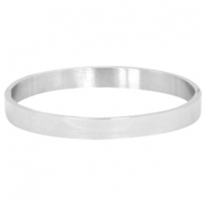 Stainless steel armband Zilver