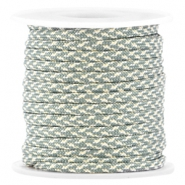 Trendy koord surfkoord plat 4mm Light green-silver