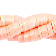 Katsuki kralen pearl coated 6mm Peach orange