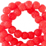 Sparkling beads 6mm Candy red