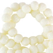 Sparkling beads 8mm Pastel yellow