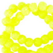 Sparkling beads 8mm Neon geel