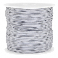Macramé draad 0.8mm Light silver grey