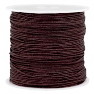 Macramé draad 0.8mm Dark chocolate brown