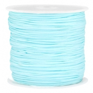 Macramé draad 0.8mm Light aquamarine blue
