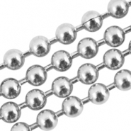 Roestvrij stalen (RVS) ball chain 2mm stainless steel Zilver (RVS)