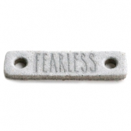DQ leer tussenstukken FEARLESS Light grey