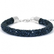 Crystal diamond armbanden 8mm Monatana blue
