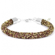 Crystal diamond armbanden 8mm Greige-brons