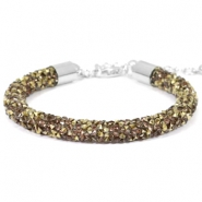 Crystal diamond armbanden 7mm Greige-brons
