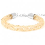Crystal diamond armbanden 8mm Bisque beige